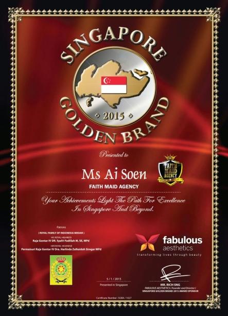 Singapore Golden Brand Award 2015 - 01